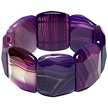 Buy Lola Rose Tremont Stretch Bracelet, Purple Montana Agate Online at johnlewis.com