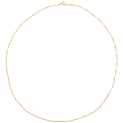 Martick 18ct Gold Plated Chain Necklace, Gold