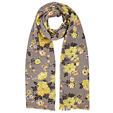 Buy John Lewis Winter Rose Scarf, Ash Grey/Multi Online at johnlewis.com