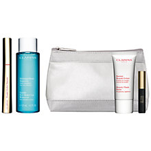 Buy Clarins Wonder Perfect Mascara, 01 Wonder Black and Gentle Eye Makeup Remover Lotion, 125ml with FREE Summer Beauty Duo Online at johnlewis.com