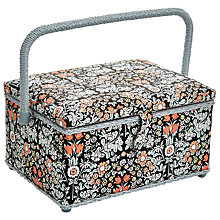 Buy John Lewis Daisy Chain Medium Sewing Basket, Multi Online at johnlewis.com