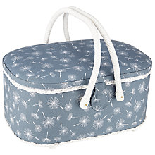 Buy John Lewis Dandelion Oval Sewing Basket, Grey Online at johnlewis.com