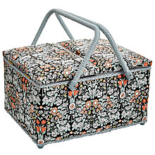 Buy John Lewis Daisy Chain Twin Lid Basket, Multi Online at johnlewis.com