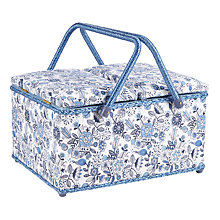 Buy Squiggles Twin Lid Basket, Blue Online at johnlewis.com