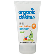 Buy Organic Children SPF 30 Sun Lotion, 150g Online at johnlewis.com