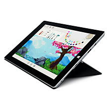 "Buy Microsoft Surface 3 and Type Cover, Intel Atom, 2GB RAM, Windows 8.1, 10.8"", 64GB, Wi-Fi Online at johnlewis.com"