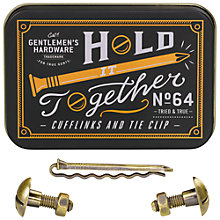 Buy Gentlemen's Hardware Cufflinks and Tie Pin Set Online at johnlewis.com