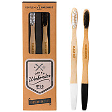 Buy Gentlemen's Hardware Bamboo Toothbrushes, Pack of 2 Online at johnlewis.com