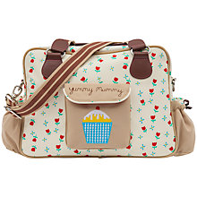 Buy Pink Lining Yummy Mummy Tulips Changing Bag, Cream Online at johnlewis.com