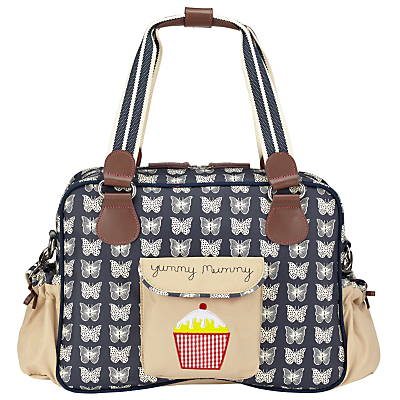 Pink Lining Yummy Mummy Butterfly Changing Bag CreamNavy