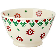 Buy Emma Bridgewater Christmas Joy Robin Old Bowl Online at johnlewis.com