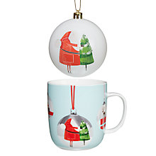 Buy John Lewis Santa Mug and Bauble Santa Online at johnlewis.com