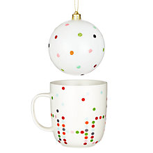 Buy John Lewis Hohoho Mug and Bauble Online at johnlewis.com