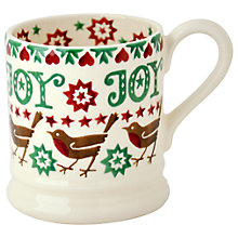 Buy Emma Bridgewater Christmas Joy Robin Half Pint Mug Online at johnlewis.com