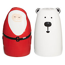 Buy John Lewis Santa and Polar Bear Salt and Pepper Set Online at johnlewis.com