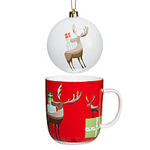 Buy John Lewis Reindeer Mug and Bauble Online at johnlewis.com