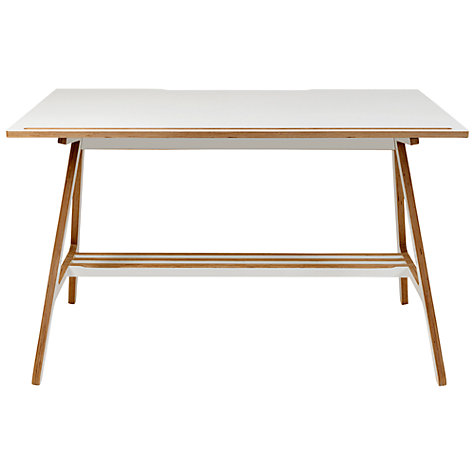 Buy ByALEX A Desk, White Online at johnlewis.com