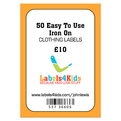 Buy labels4kids easy to use iron on clothing labels pack for Iron on shirt labels
