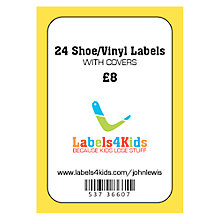 Buy Labels4kids Shoe/Vinyl Labels With Covers, Pack of 24 Online at johnlewis.com