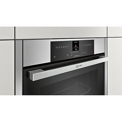 buy neff b25cr22n1b easyclean pyrolytic single electric oven stainless steel john lewis. Black Bedroom Furniture Sets. Home Design Ideas