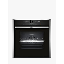 Buy Neff B27CR22N1B CircoTherm® Pyrolytic Single Electric Oven, Stainless Steel Online at johnlewis.com