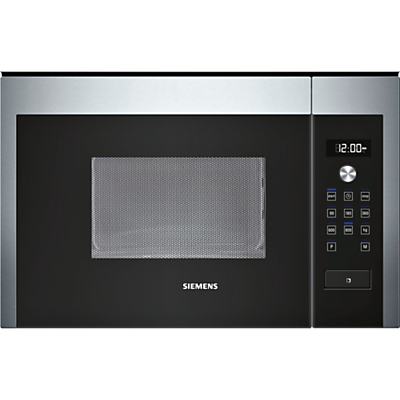 Image of Siemens HF15M564B Compact Microwave Oven, Stainless Steel