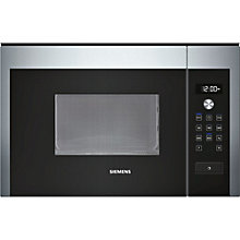 Buy Siemens HF15M564B Compact Microwave Oven, Stainless Steel Online at johnlewis.com