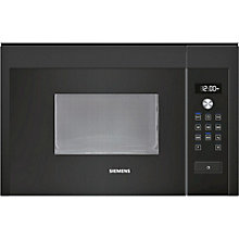 Buy Siemens HF15M664B Compact Microwave Oven, Black Online at johnlewis.com