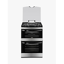 Buy Zanussi ZCG63010XA Gas Cooker, Stainless Steel Online at johnlewis.com