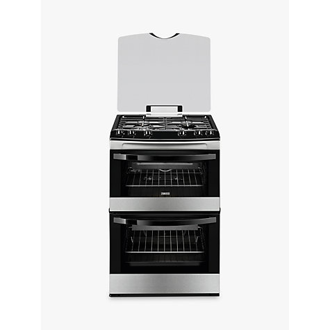buy zanussi zcg63010xa gas cooker stainless steel john. Black Bedroom Furniture Sets. Home Design Ideas