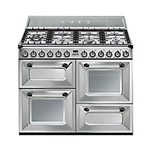 Buy Smeg TR4110X Duel Fuel Range Cooker, Stainless Steel Online at johnlewis.com