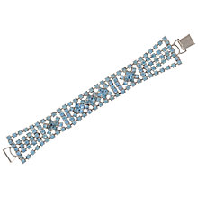 Buy Susan Caplan Vintage Bridal 1950s Silver Blue Crystal Bracelet, Blue/Silver Online at johnlewis.com