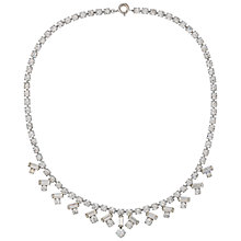 Buy Susan Caplan Vintage Bridal 1960s Silver Plated Austrian Crystal Necklace, Silver Online at johnlewis.com