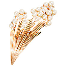 Buy Susan Caplan Vintage Bridal 1960s Trifari Gold Plated Faux Pearl Swarovski Crystal Brooch, Gold Online at johnlewis.com