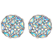 Buy Susan Caplan Vintage Bridal 1950s Trifari Silver Plated Swarovski Crystal Clip-On Earrings, Silver/Multi Online at johnlewis.com