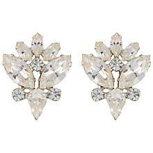 Buy Susan Caplan Vintage Bridal 1960s B. David Silver Plated Swarovski Crystal Clip-On Earrings, Silver Online at johnlewis.com