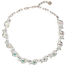 Buy Susan Caplan Vintage Bridal 1960s Lisner Silver Plated Faux Pearls Swarovski Crystal Necklace, Silver Online at johnlewis.com