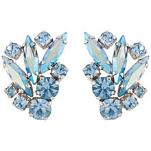 Buy Susan Caplan Vintage Bridal 1950s Silver Plated Swarovski Crystal Clip-On Earrings, Blue Online at johnlewis.com