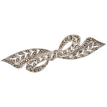 Buy Susan Caplan Vintage Bridal 1950s Silver Plated Marcasite Bow Brooch, Silver Online at johnlewis.com