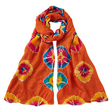 Buy East Silk Bandhini Scarf, Ginger Online at johnlewis.com