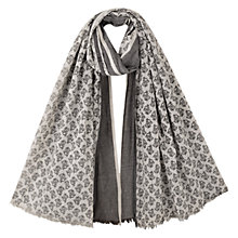 Buy East Leena Two-Tone Scarf, Black/Cream Online at johnlewis.com