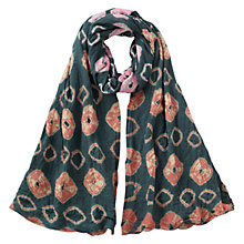 Buy East Cotton Bandhini Scarf, Slate/Multi Online at johnlewis.com