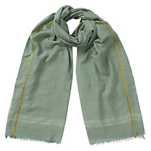 Buy East Silk-Blend Lurex Scarf, Mineral Green Online at johnlewis.com