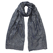 Buy East Astrid Lurex Scarf, Indigo Online at johnlewis.com