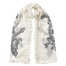 Buy East French Knot Pom Pom Scarf, Calico Online at johnlewis.com