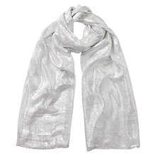 Buy East Astrid Lurex Scarf, White Online at johnlewis.com