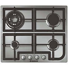 Buy Hoover HGH64SQCX Integrated Gas Hob, Stainless Steel Online at johnlewis.com