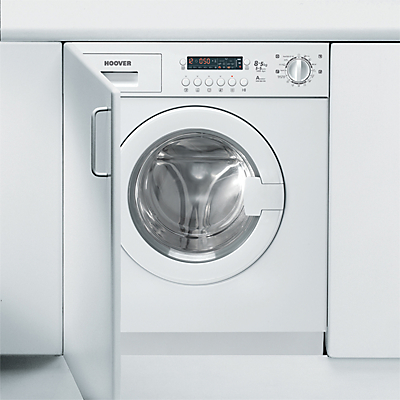 Image of Hoover HDB854DN/1 Integrated Washer Dryer, 8kg Wash/5kg Dry Load, A Energy Rating, 1400rpm Spin, White
