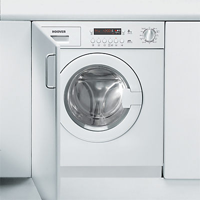 Image of Hoover HWB814DN1 Integrated Washing Machine, 8kg Load, A+ Energy Rating, 1400rpm Spin, White