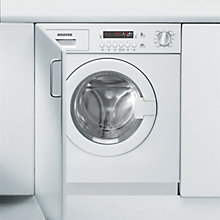 Buy Hoover HWB814DN1 Integrated Washing Machine, 8kg Load, A+ Energy Rating, 1400rpm Spin, White Online at johnlewis.com